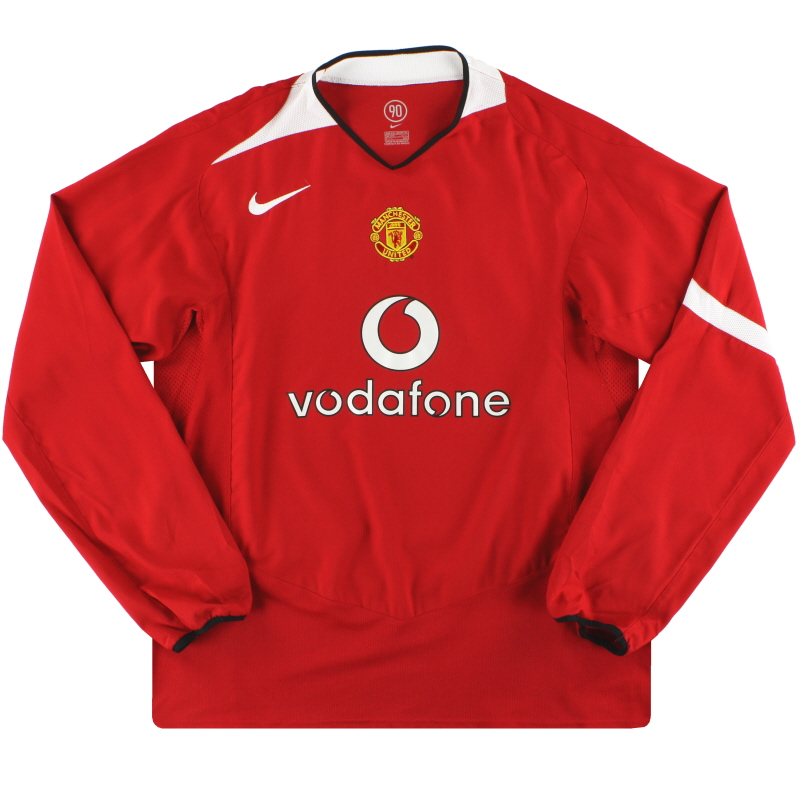 2004-06 Manchester United Nike Home Shirt L/S M - 118835