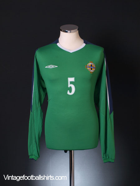 2004-06 Northern Ireland Player Issue Home Shirt #5 L/S XL
