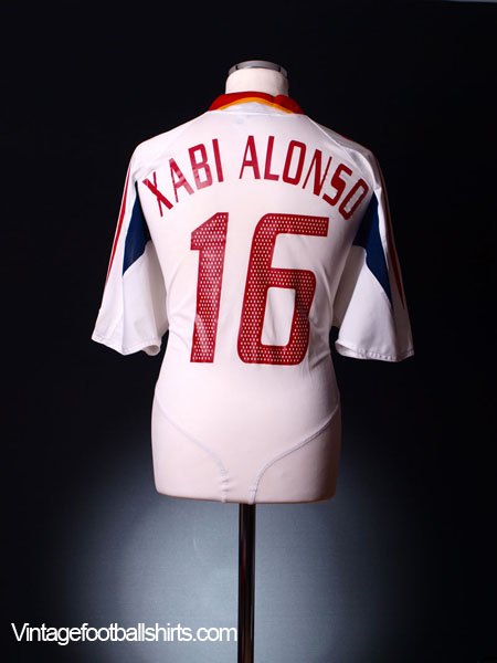 2004-06 Spain Away Shirt Xabi Alonso #16 XL
