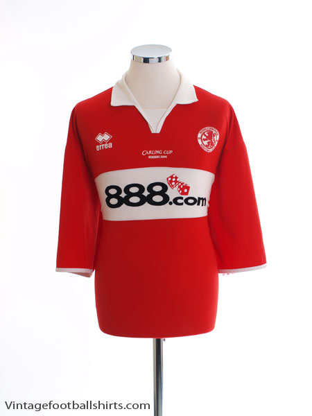 2004 Middlesbrough 'Carling Cup Winners 2004' Home Shirt XXXL
