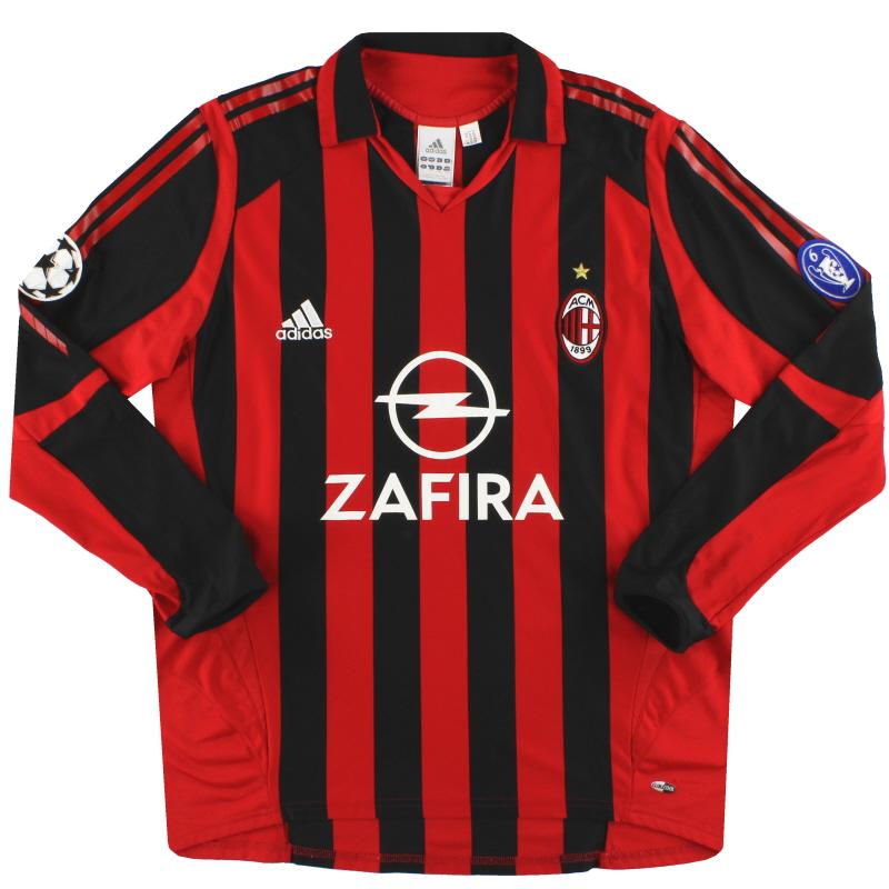 2005-06 AC Milan adidas CL Home Shirt L/S L