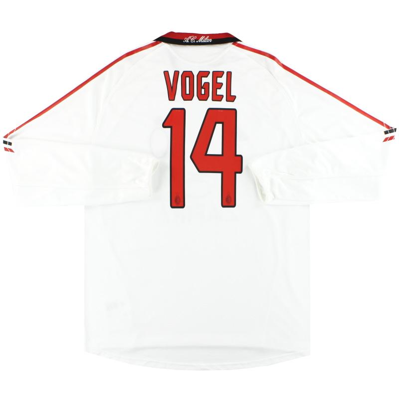 2005-06 AC Milan adidas Player Issue 'Formotion' Away Shirt Vogel #14 L/S XL - 109949