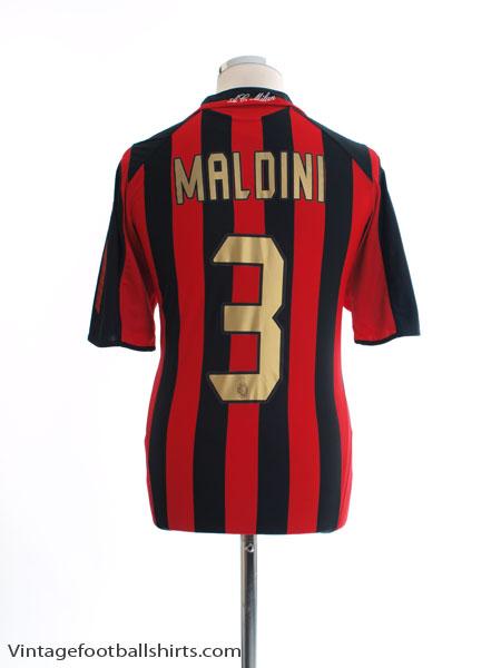 2005-06 AC Milan Home Shirt Maldini #3 *Mint* M - 109965