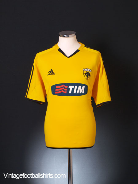 2005-06 AEK Athens Home Shirt M