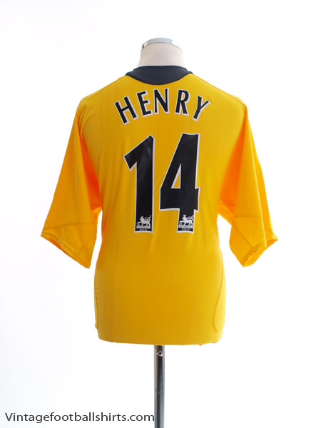 2005-06 Arsenal Away Shirt Henry #14 *Mint* XL - 195581