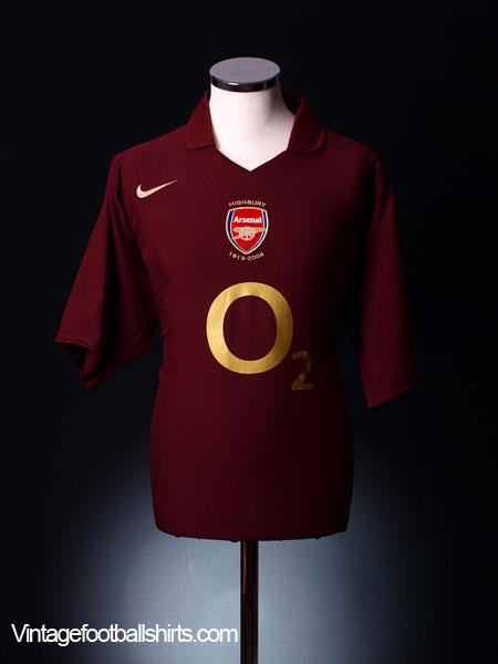 2005-06 Arsenal Commemorative Highbury Home Shirt L