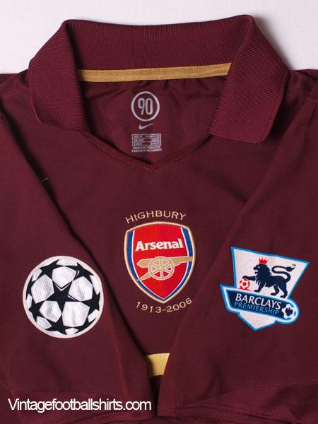 777200da21c 2005-06 Arsenal Commemorative Highbury Home Shirt Wright  8 M for sale
