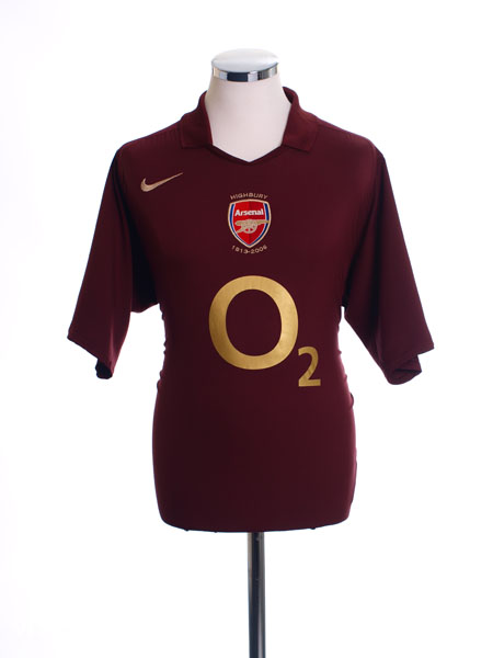 2005-06 Arsenal Commemorative Highbury Home Shirt M