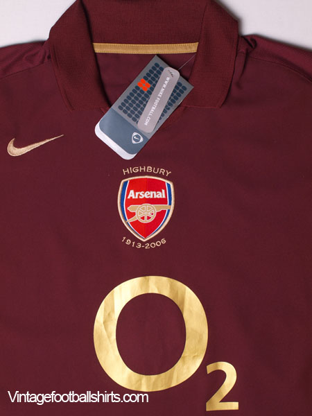 2005-06 Arsenal Highbury Home Shirt  BNWT  XL for sale e2ee19ef3