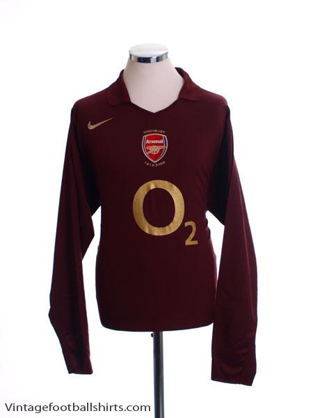 2005-06 Arsenal Highbury Home Shirt L/S M