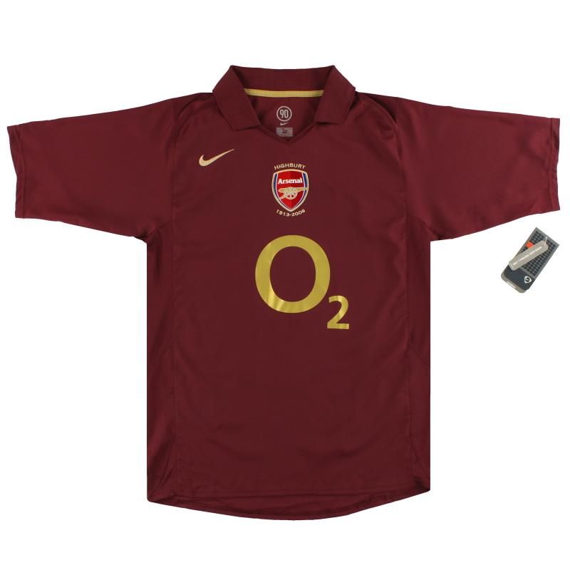 2005-06 Arsenal Nike Commemorative Highbury Home Shirt *w/tags* S - 195578