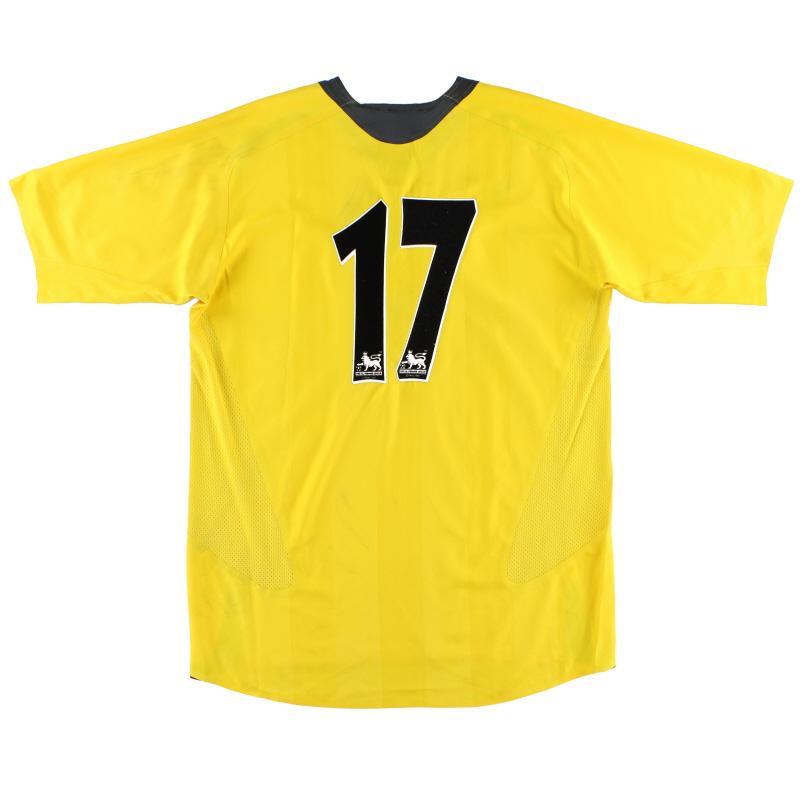 2005-06 Arsenal Reserves Match Issue Away Shirt #17 XL