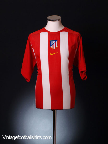 2005-06 Atletico Madrid Home Shirt L