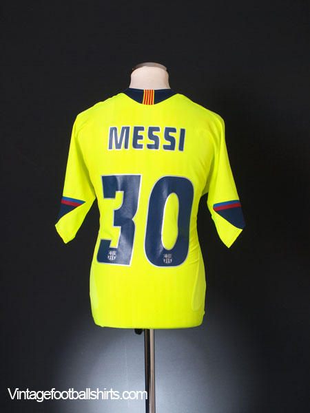 2005-06 Barcelona Away Shirt Messi #30 L