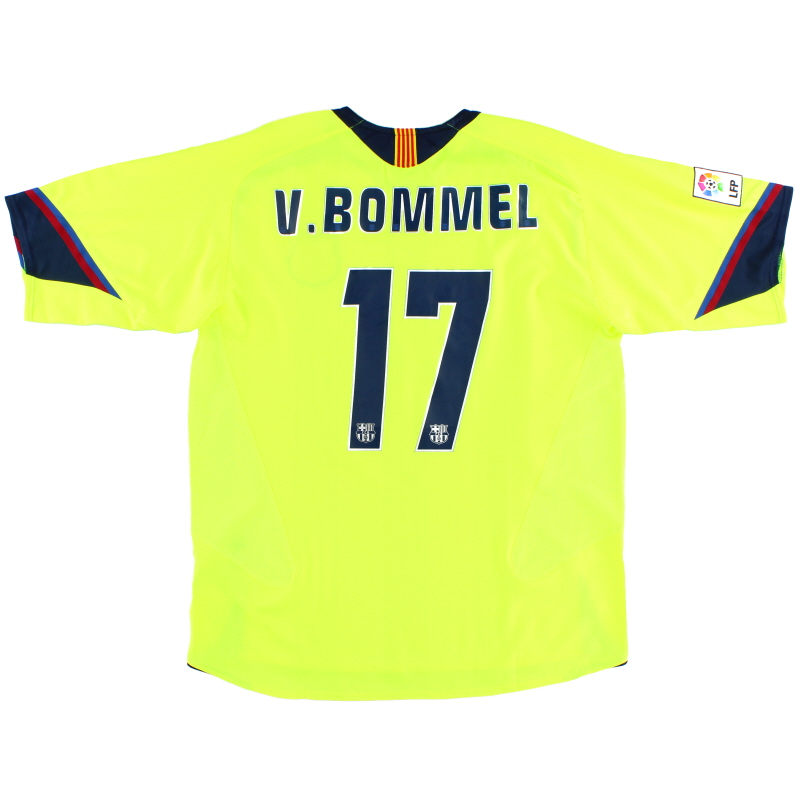 2005-06 Barcelona Away Shirt V.Bommel #17 *As New* XL