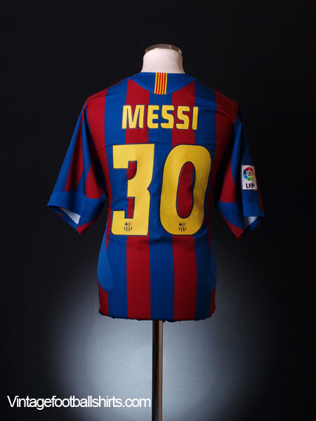 designer fashion 46efd f5f9b 2005-06 Barcelona Home Shirt Messi #30 M for sale