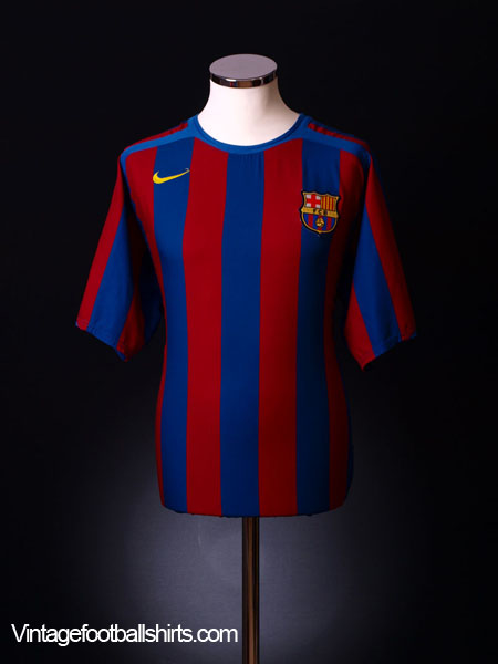 2005-06 Barcelona Home Shirt M.Boys