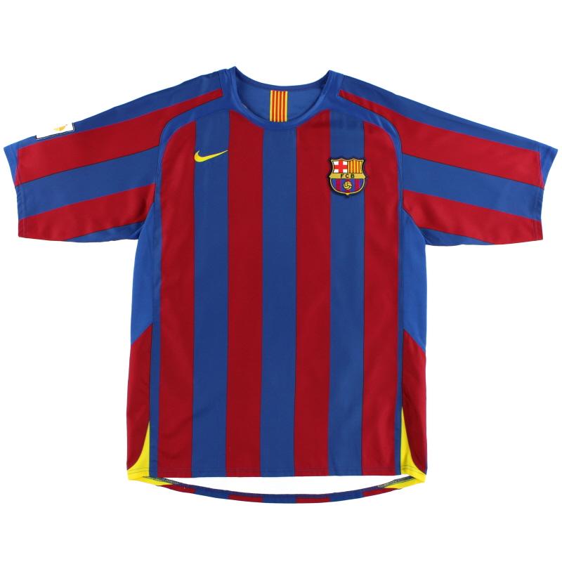 2005-06 Barcelona Home Shirt S