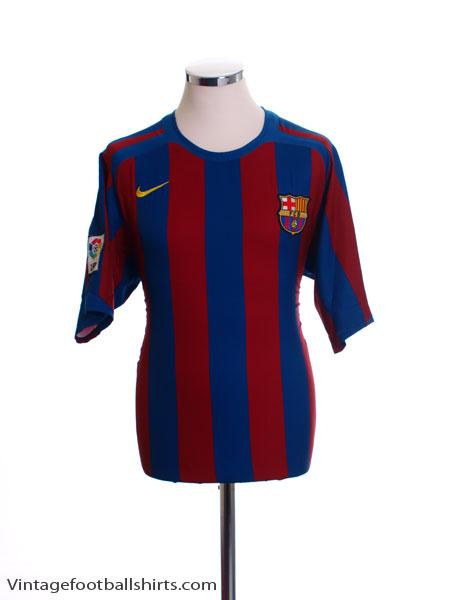 2005-06 Barcelona Home Shirt L
