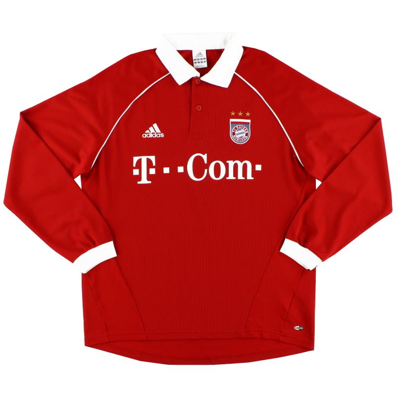 2005-06 Bayern Munich Home Shirt L/S #5 L