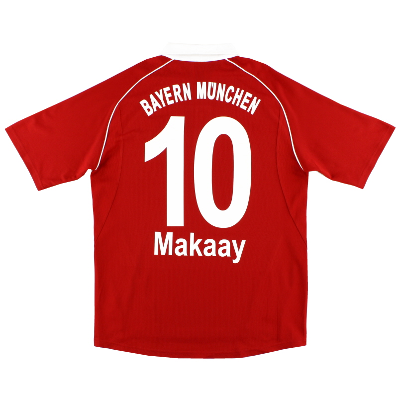 2005-06 Bayern Munich adidas Home Shirt Makaay #10 *Mint* L - 565117