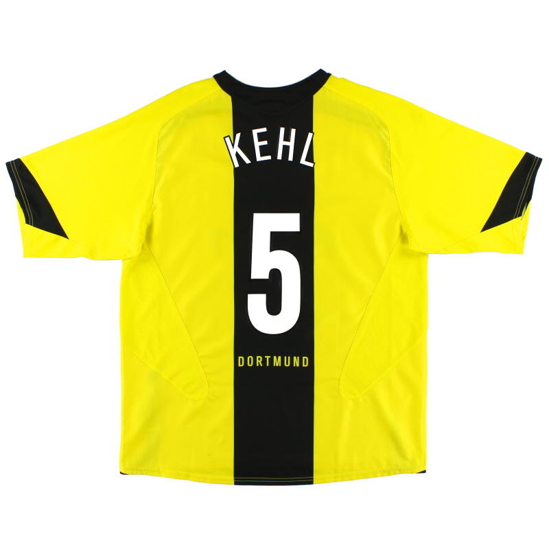 2005-06 Borussia Dortmund Home Shirt Kehl #5 S - 195754