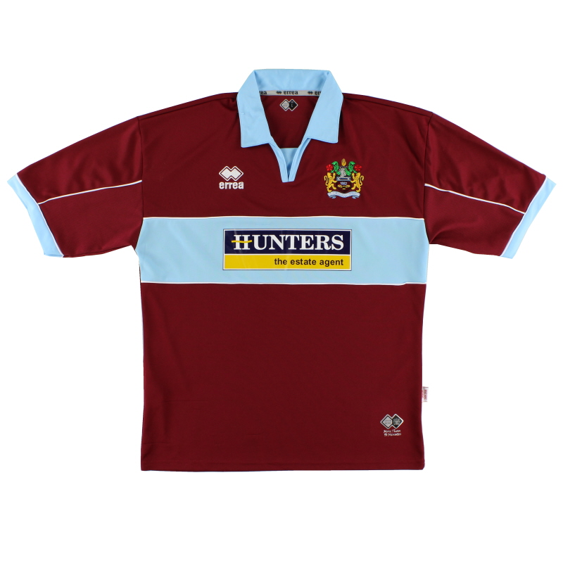 2005-06 Burnley Errea Home Shirt M