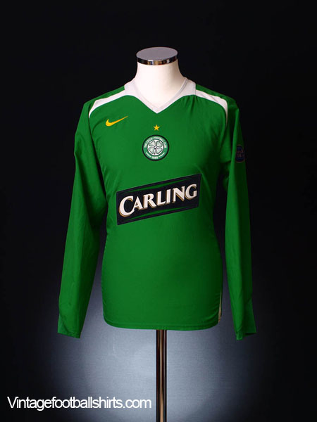 2005-06 Celtic Away Shirt *Mint* L/S L