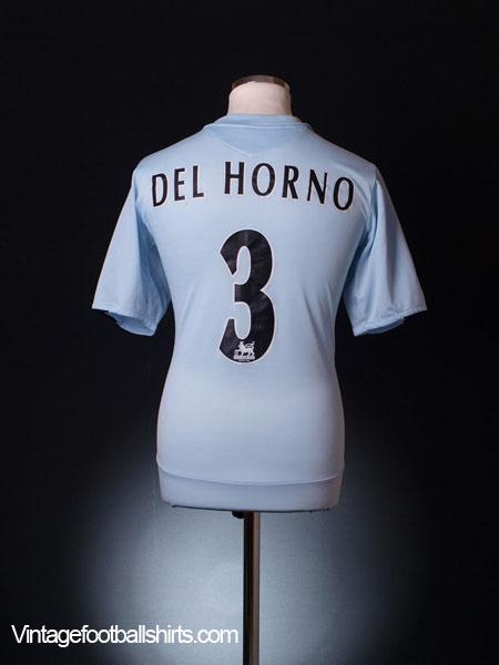 2005-06 Chelsea Away Shirt Del Horno #3 L