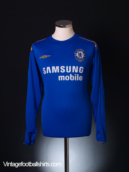 2005-06 Chelsea Centenary Home Shirt L/S XL