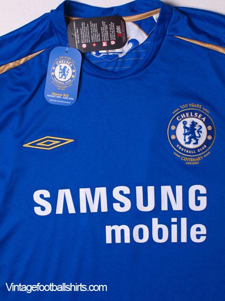new concept c7276 29eca 2005-06 Chelsea Centenary Home Shirt *BNWT* XL for sale