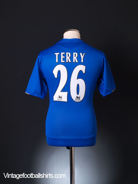 2005-06 Chelsea Centenary Home Shirt Terry #26 M
