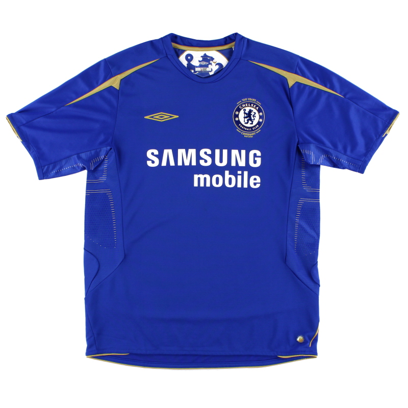 2005-06 Chelsea Umbro Centenary Home Shirt XL