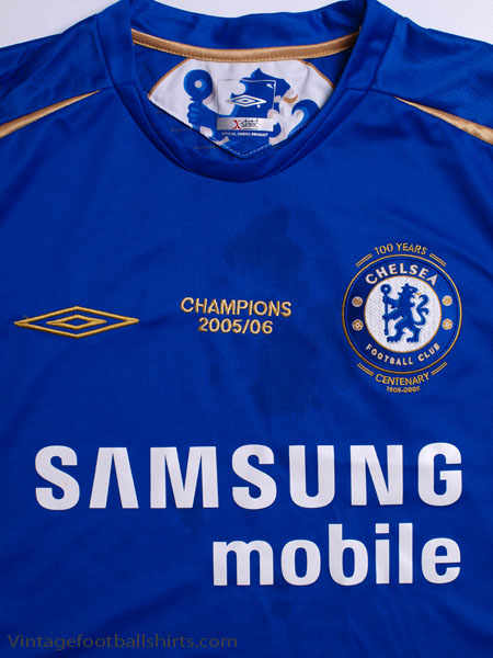 online store 01843 beffb 2005-06 Chelsea 'Champions' Centenary Home Shirt M for sale
