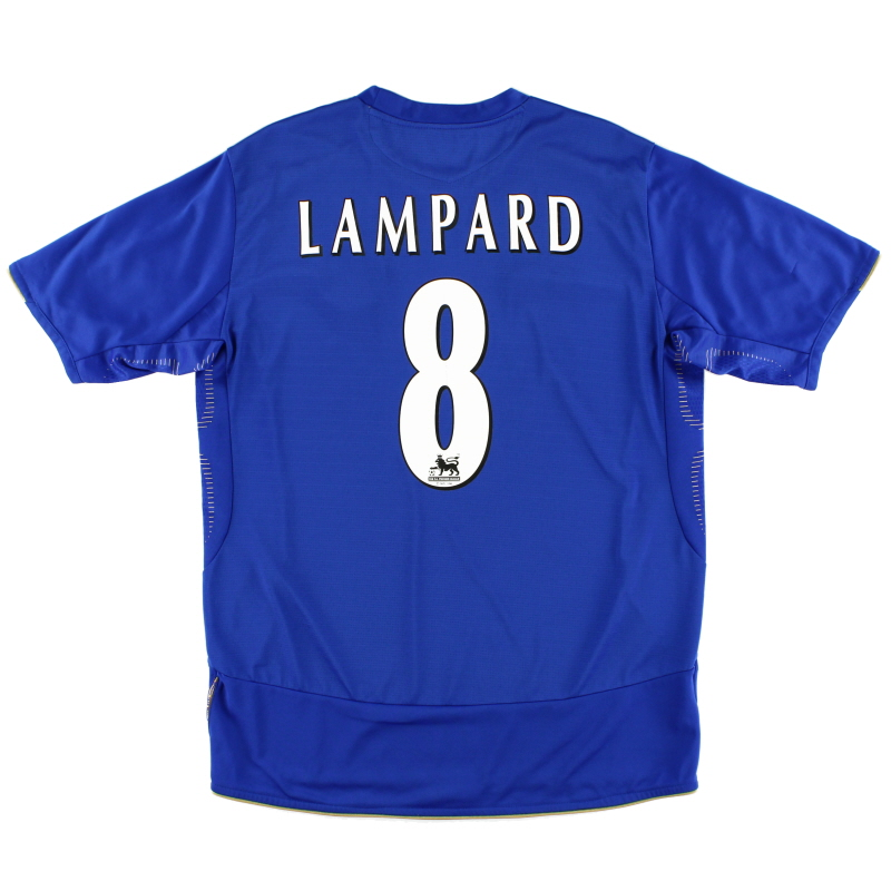 2005-06 Chelsea Home Shirt Lampard #8 XL