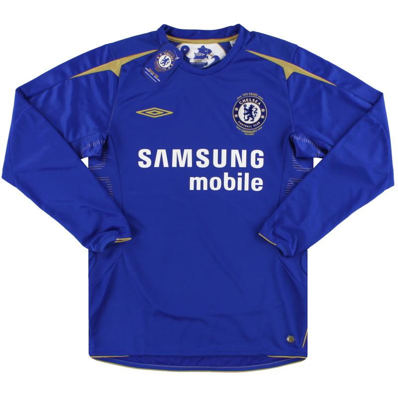 2005-06 Chelsea Umbro Centenary Home Shirt L/S *w/tags* XXL - 08169375