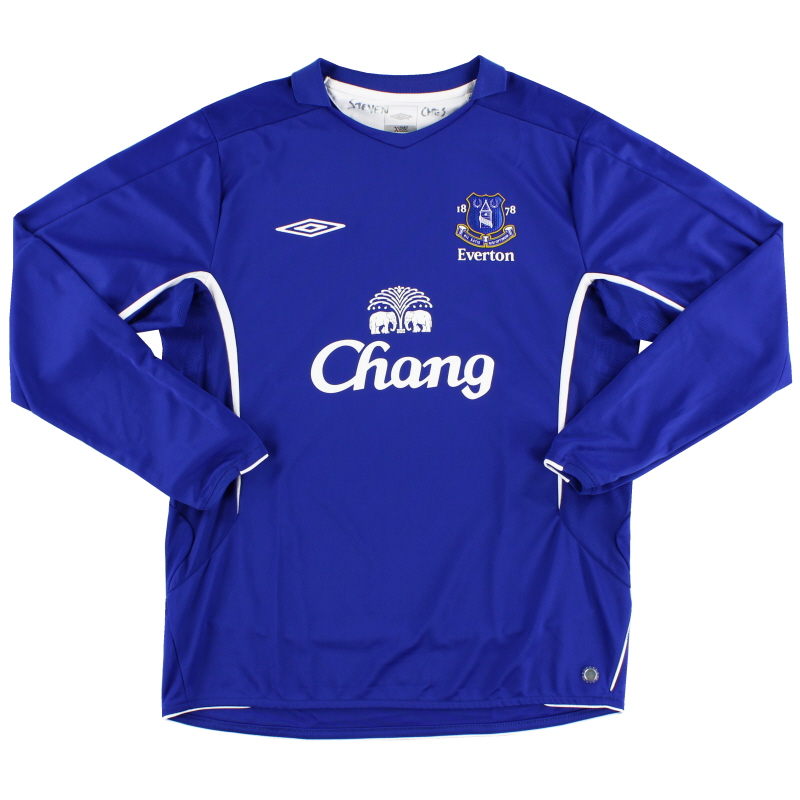 2005-06 Everton Home Shirt L/S L