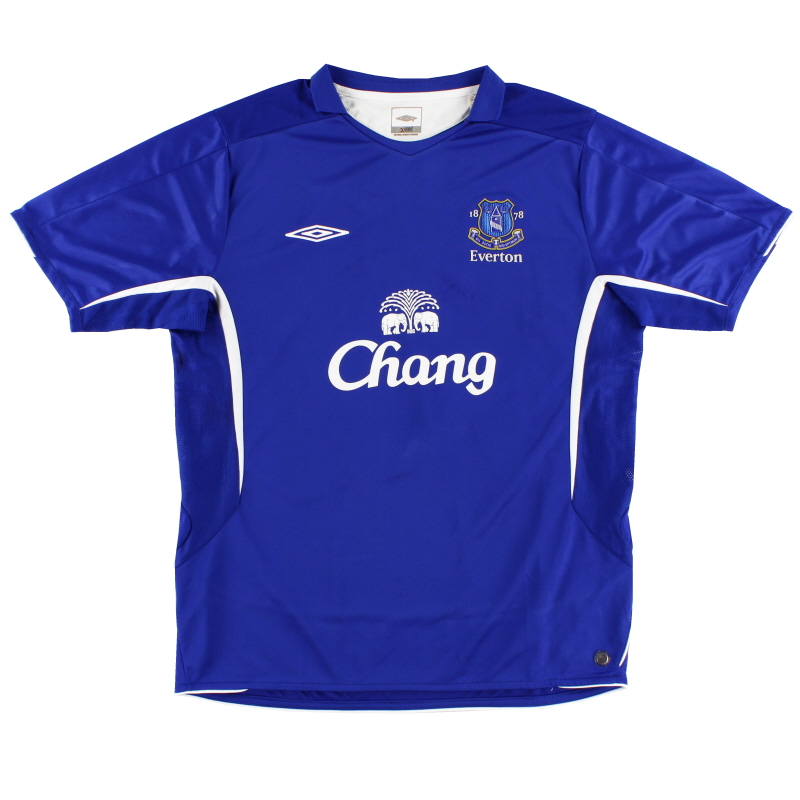 2005-06 Everton Home Shirt M