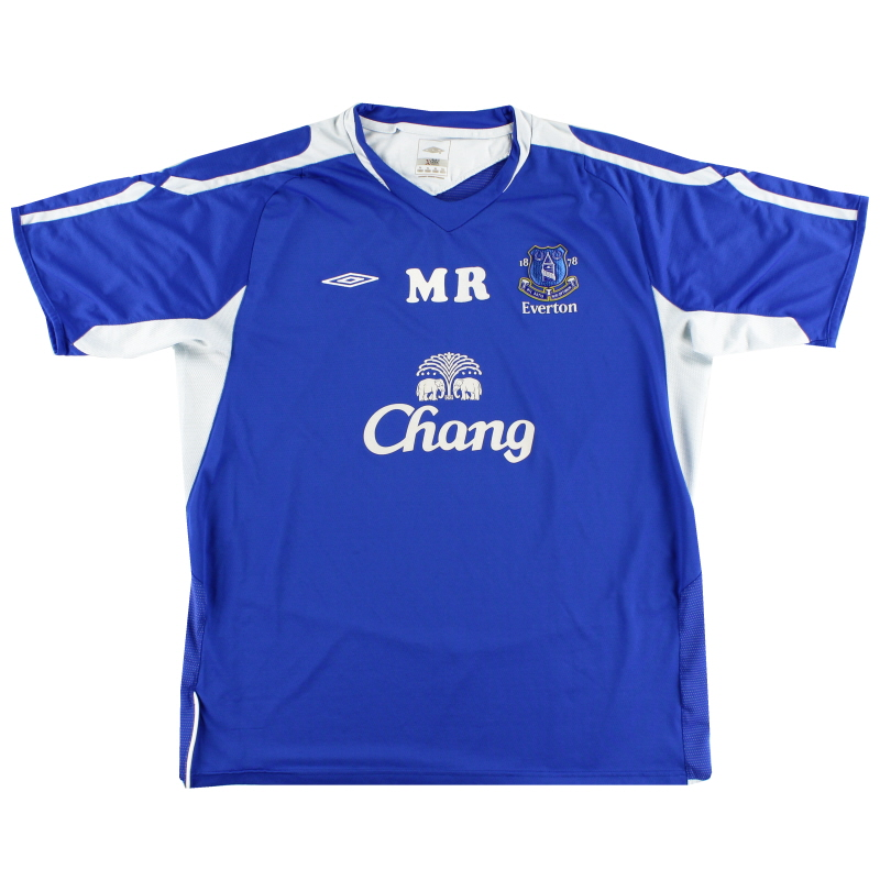 2005-06 Everton Worn Training Shirt XL