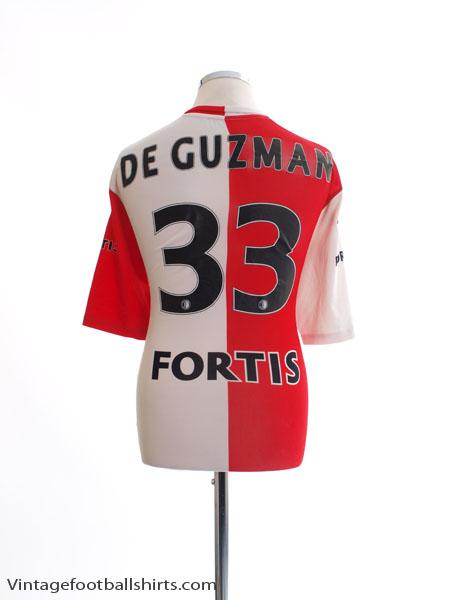 2005-06 Feyenoord Home Shirt De Guzman #33 XL