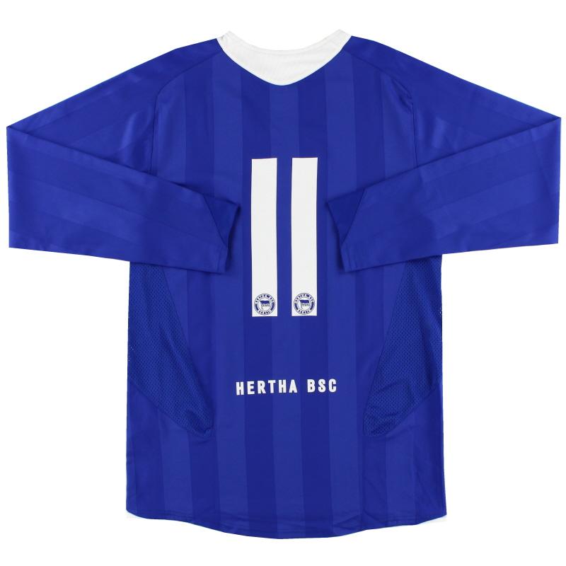 2005-06 Hertha Berlin Player Issue Home Shirt #11 L/S M