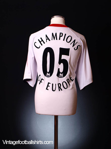 2005-06 Liverpool Away Shirt 'Champions of Europe #05' XXL