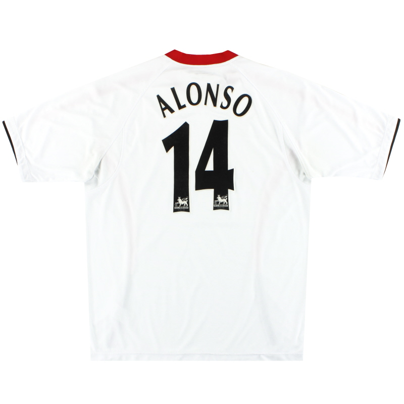 2005-06 Liverpool Reebok Away Shirt Alonso #14 L - ACMF5102-100