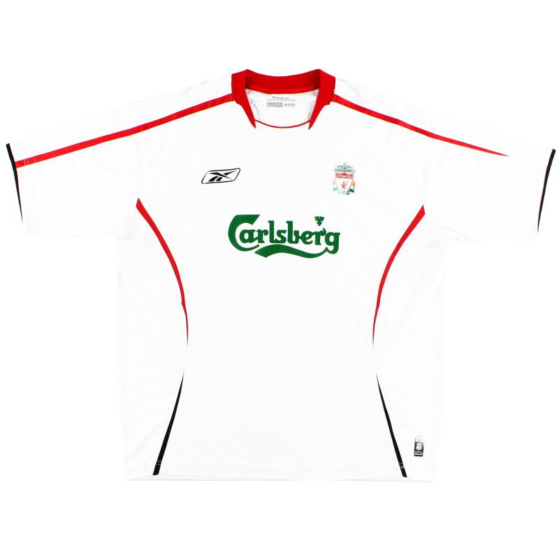 2005-06 Liverpool Reebok Away Shirt *Mint* XL - ACMF5102-100