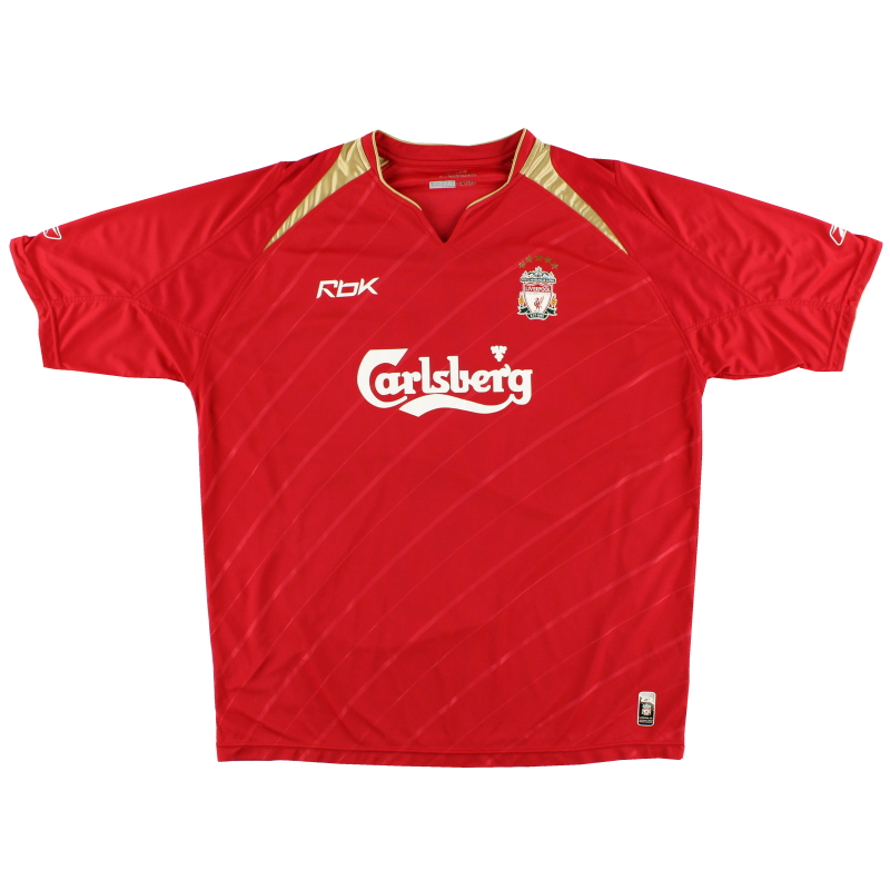 2005-06 Liverpool Champions League Home Shirt L