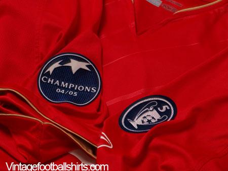 buy online 0c479 b7839 2005-06 Liverpool Champions League Home Shirt Gerrard #8 L ...