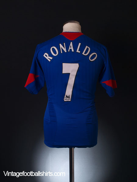 2005-06 Manchester United Away Shirt Ronaldo #7 S
