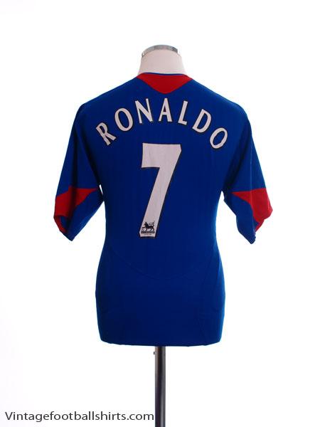 2005-06 Manchester United Away Shirt Ronaldo #7 XL