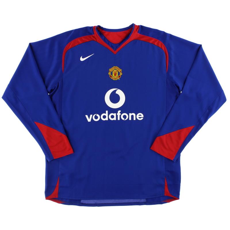 2005-06 Manchester United Away Shirt L/S *Mint* L