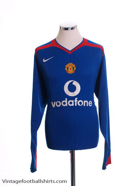 2005-06 Manchester United Away Shirt L/S M - 195598
